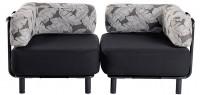 2 Sitzer - Black / Palm Charcoal