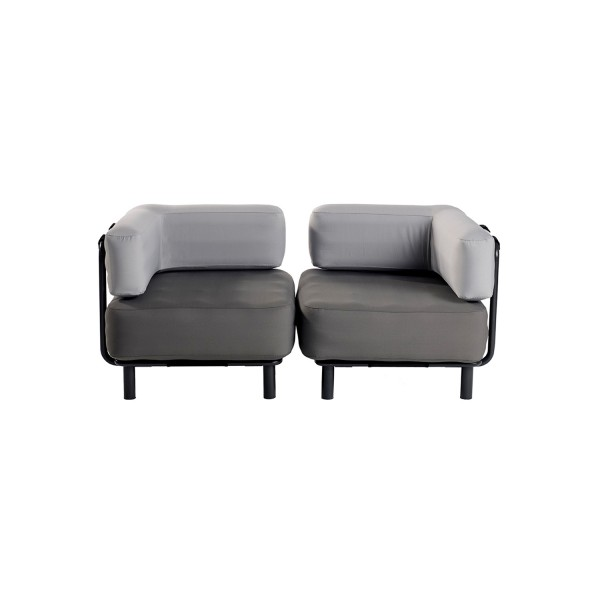 2 Sitzer - Dark Grey / Light Grey