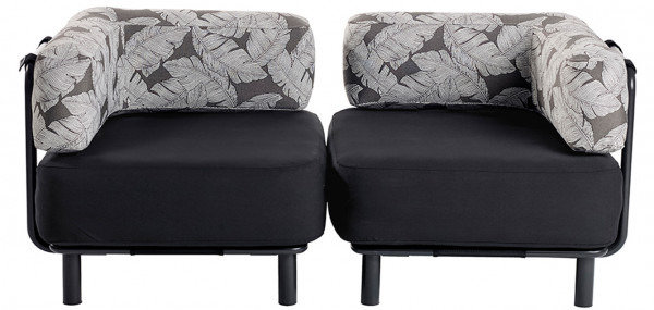 2 Sitzer - Black / Palm Charcoal